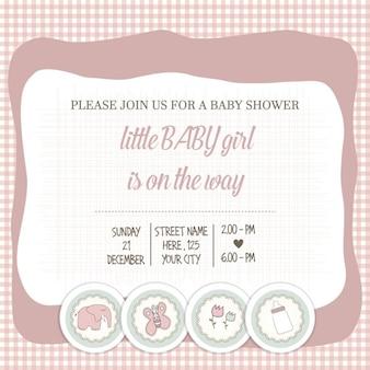 Delicada do bebê Cartão do chuveiro menina