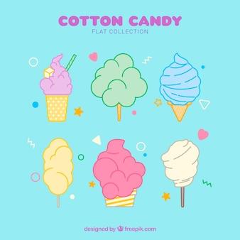 Delicioso doce de algodão desenhado à mão