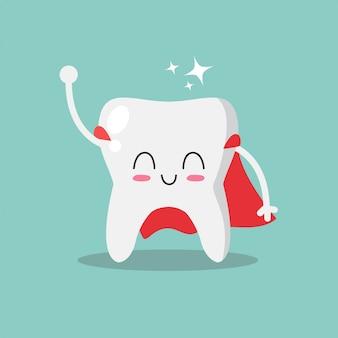 Dente bonito e engraçado