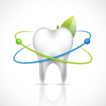 Dentes saudáveis realistas