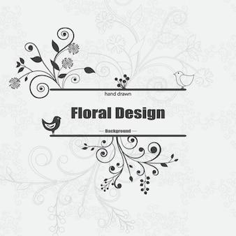 desenhado à mão fundo floral
