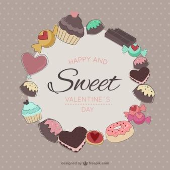 Desenhado mão variedade de doces