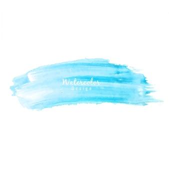 Desenho abstrato de manchas de aguarela azul