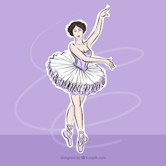 Desenho bailarina clássica