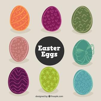 Desenho bonito pacote de ovos de Páscoa