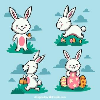 Desenho coelho agradável de Páscoa