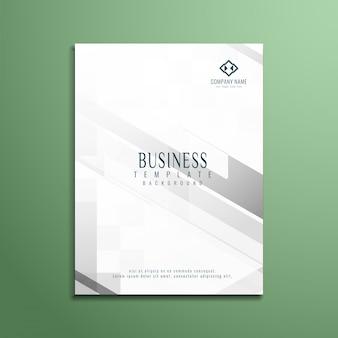 Desenho de folheto de negócios de cor cinza elegante e abstrato