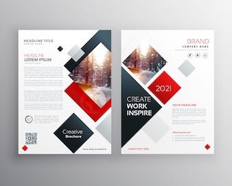 Desenho de modelo criativo de folheto comercial em tamanho A4