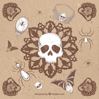 Desenho fundo em estilo grunge halloween