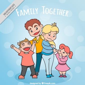 Desenho fundo família unida