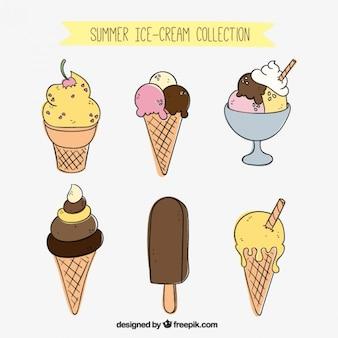 Desenho gostos coleção ice-cream