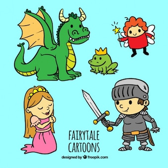 desenhos animados bonitos do conto de fadas