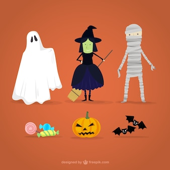 Desenhos animados caráter de Halloween