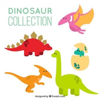 Desenhos animados dinossauros pacote