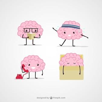 Desenhos animados ilustrações cerebrais