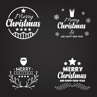 Desenhos de logotipos de Natal Typography