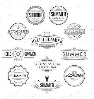 Desenhos de verão tipográficos