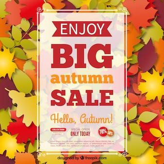Desfrute de grande poster venda outono