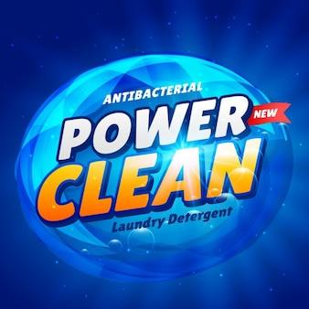 Design azul criativo embalagem do produto detergente