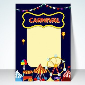 Design Carnaval partido poster
