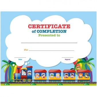 Design Certificado infantil