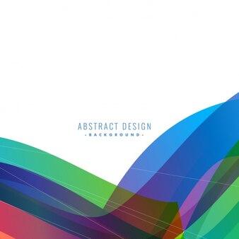 Design colorido elegante fundo da onda