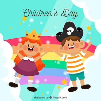 Design colorido para o dia das crianças
