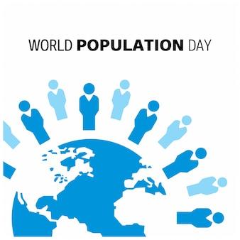 Design com globo para dia mundial da população