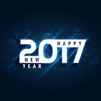 Design criativo cartão 2017 feliz ano novo