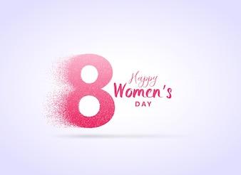 Design criativo dia da mulher com a letra 8 feitas com partículas