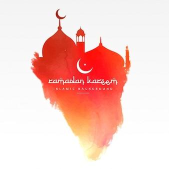 design criativo mesquita feita com tinta vermelha