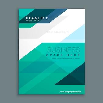 Design da brochura da página de rosto da revista da empresa
