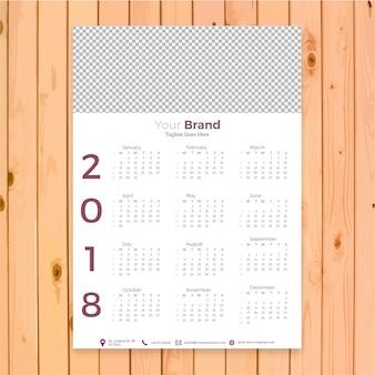 Design da empresa do calendário