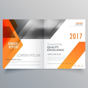 Design da marca página de capa de revista ou brochura bifold template vector