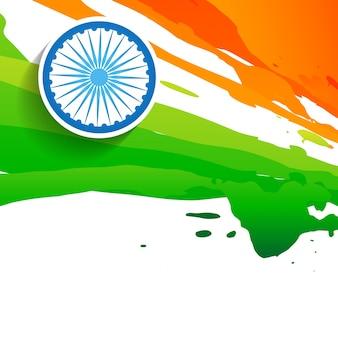 Design de bandeira indiana de estilo de pintura