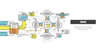 Design de banners de drone