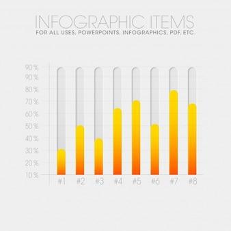 Design de barras de infografia
