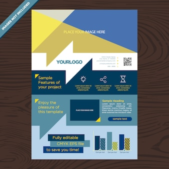 Design de brochura de negócios moderno