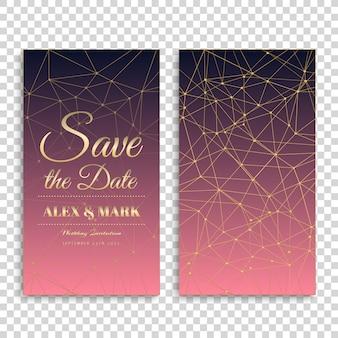 Design de cartão cor-de-rosa do casamento do inclinação