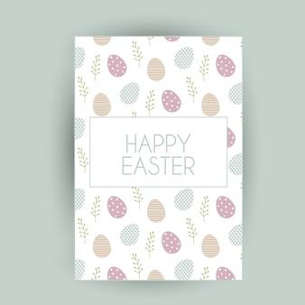 Design de cartão de Páscoa