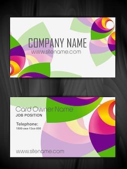 Design de cartão de visita criativo de vetores