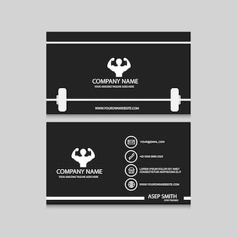 Design de cartão de visita do esporte