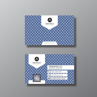 Design de cartão de visita dos pontos