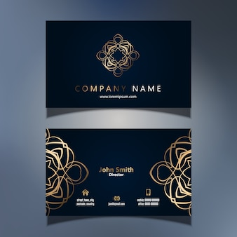 Design de cartão de visita elegante