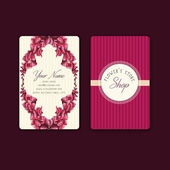 Design de cartão de visita floral
