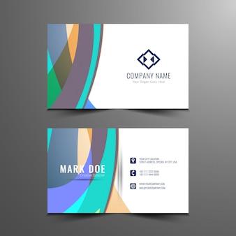 Design de cartão de visita ondulado colorido abstrato