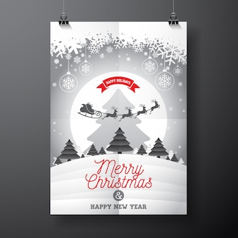 Design de cartaz de Natal