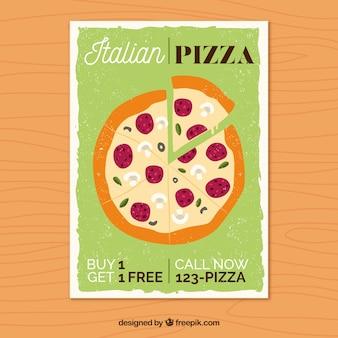 Design de cartaz de pizza
