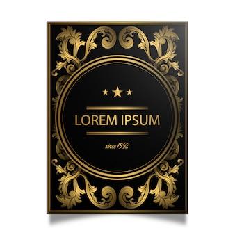 Design de cartaz dourado