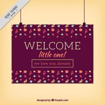 Design de cartão de boas-vindas